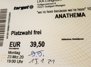 Anathema Ticket