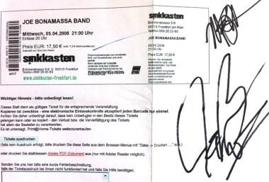 Joe Bonamassa Band 2006