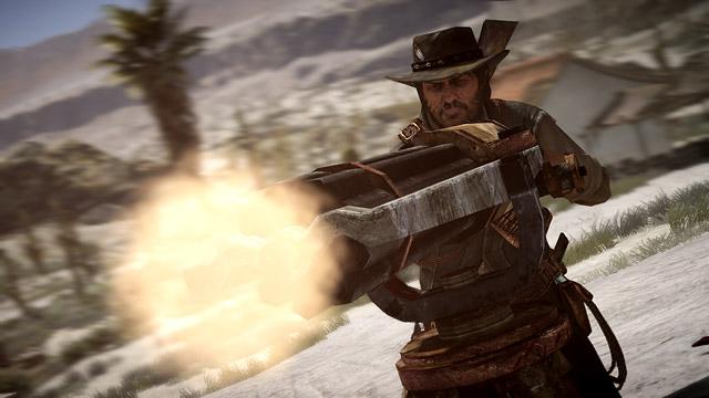 Image result for Red Dead gatling gun