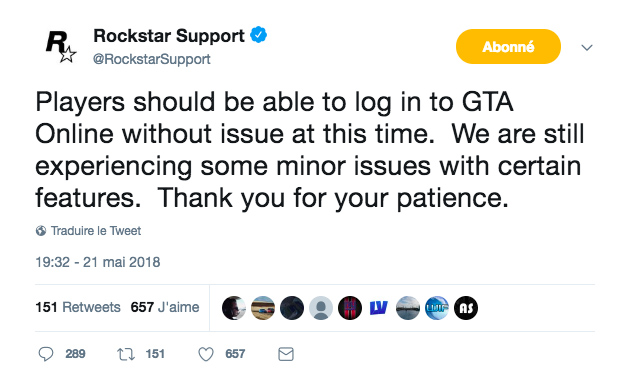 Tweet Rockstar Support