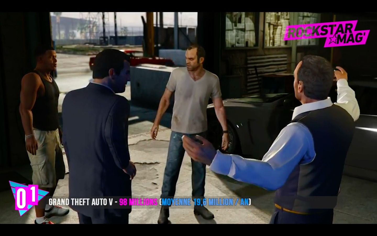 Top 1 Rockstar Games - Grand Theft Auto V avec 98 Millions