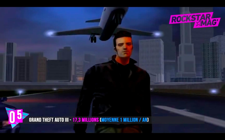 Top 5 Rockstar Games - GTA III avec 17 Millions