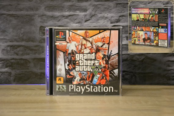 Jaquette GTA V PS One Collector