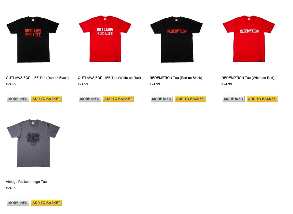 T-Shirts-Red-Dead-Redemption-II