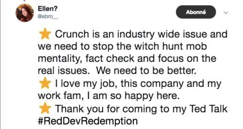 Tweet Ellen Rockstar Games Employé