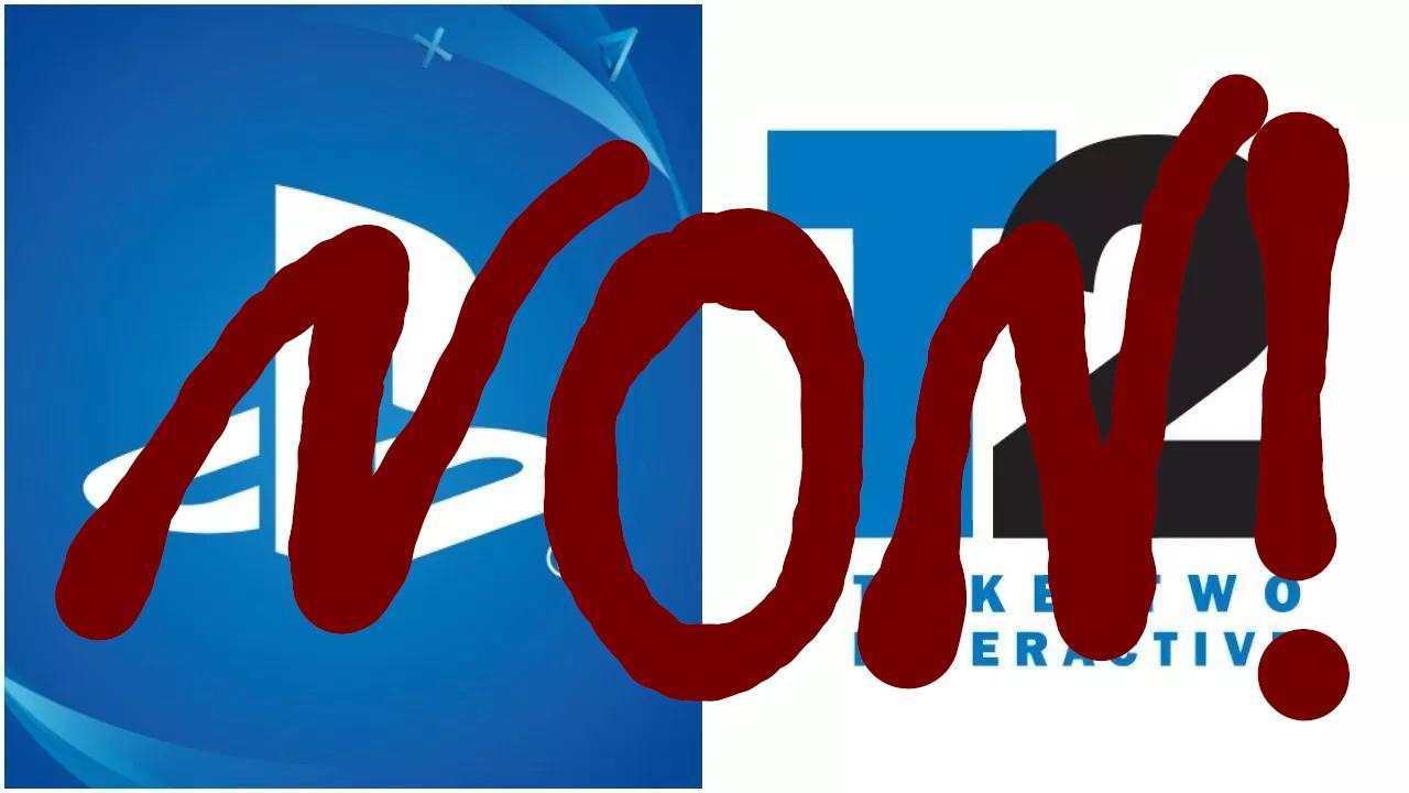 Bannière disant que non, le rachat de Sony et Take-Two n'aura pas lieu