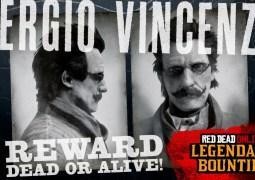 Le criminel légendaire Sergio Vincenza est désormais recherché sur Red Dead Online !