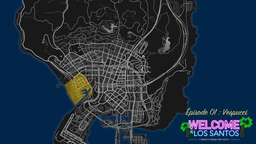 MAP GTA V Vespucci