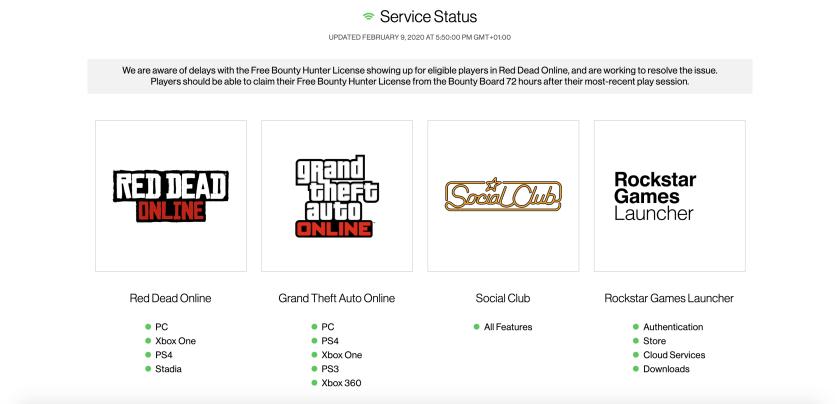 Serveurs Rockstar Games Good