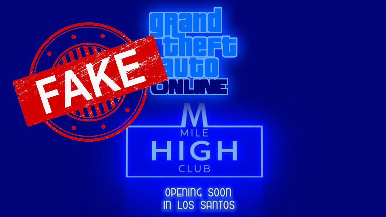 Fake GTA Online Mise à Jour Mile High Club