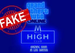 GTA Online : Attention aux fake autour de la prochaine mise à jour du Mile High Club