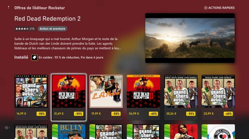 Microsoft Store Reductions Rockstar