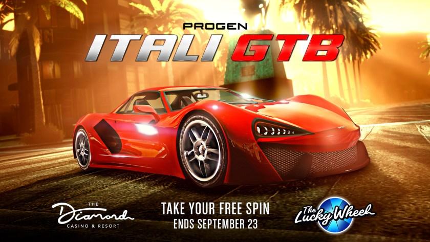 GTA Online Podium Diamond Casino Progen Itali GTB