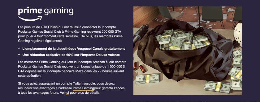 GTA Online Twitch Prime 22 Octobre