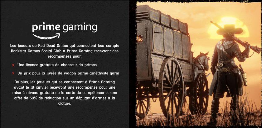 Prime Gaming Red Dead Online Janvier 2021