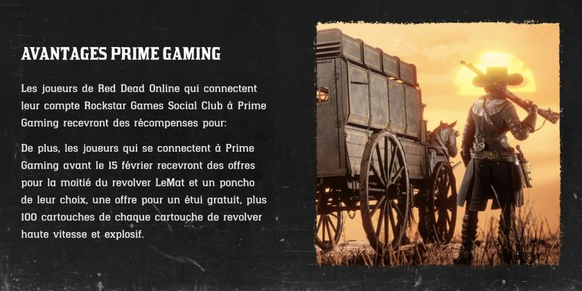 Prime Gaming Red Dead Online Janvier 2021