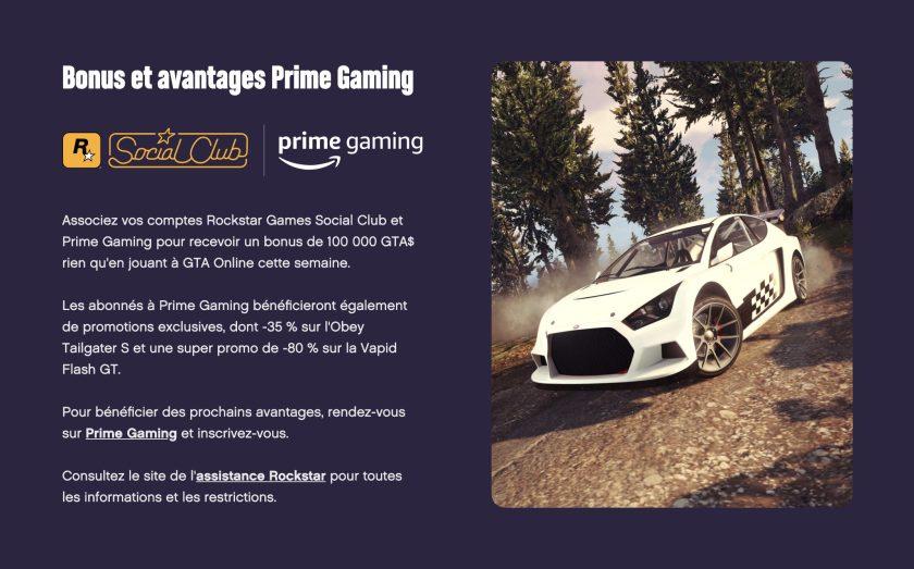 GTA Online Prime Gaming