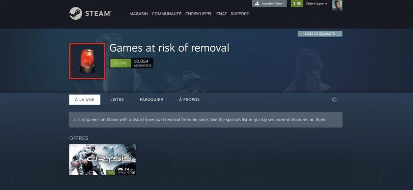 Steam Jeux à Risques