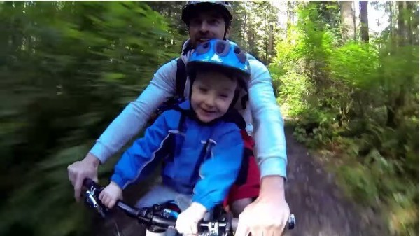Father and Son - Mountain Bike Fun