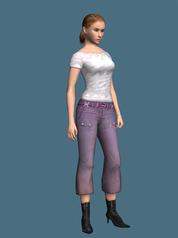 Young girl rigged 3d model free   RockThe3D