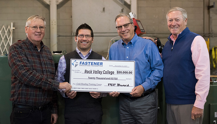 RVC's Cold Forming Training Center Receives $20,000 Donation