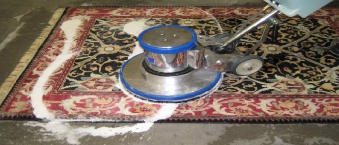cleaning carpet with soap