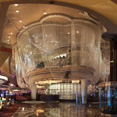 The Chandelier Bar Is Made Of 21 Miles Crystal Bead Swags