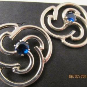 Post Earrings - Faceted BLUE SPINEL on Sterling Silver (JS-50)