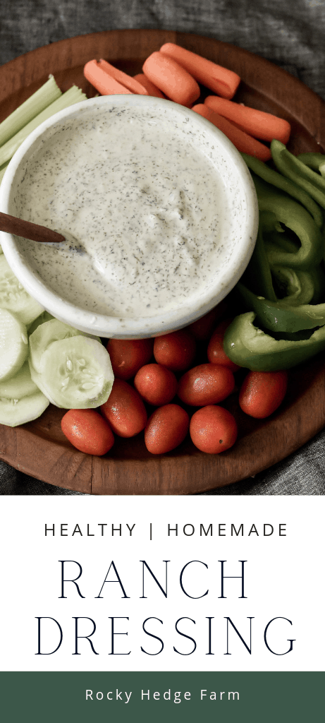 Easy Healthy Homemade Ranch Dressing