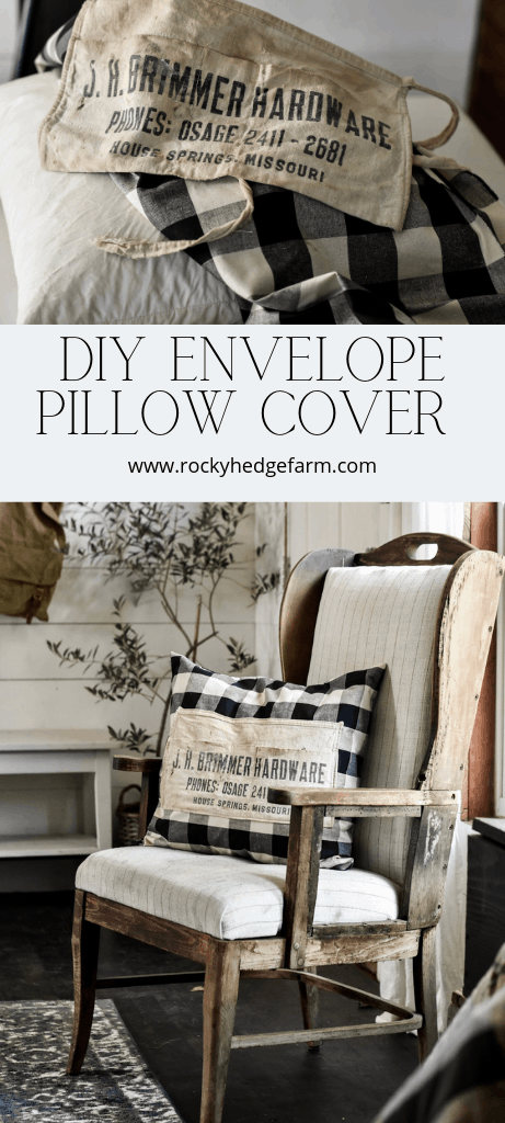 Vintage Hardware Nail Apron Envelope Pillow Cover Tutorial