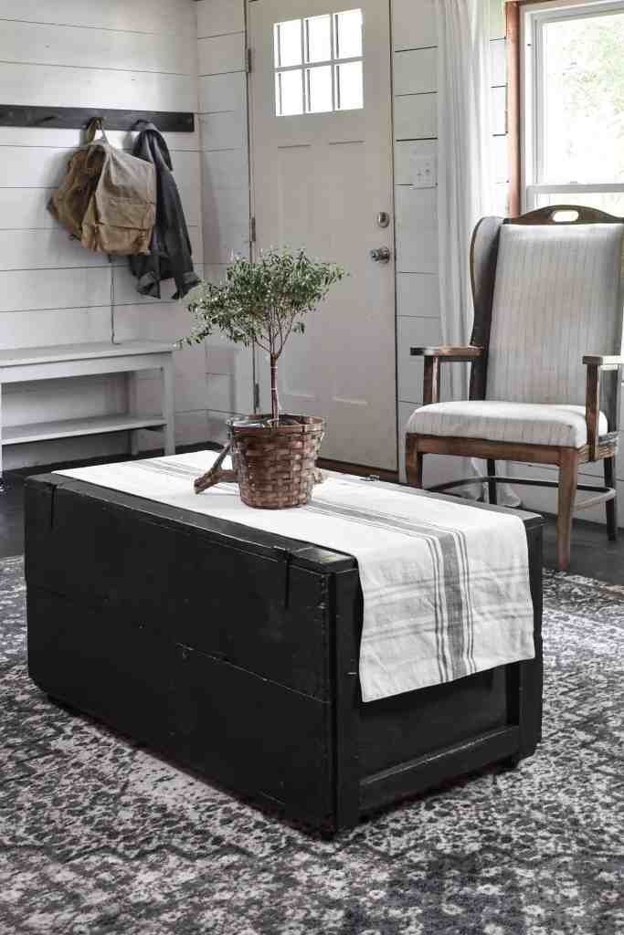 Rustic Farmhouse Living Room Blanket Trunk Solutions for Hidden Storage