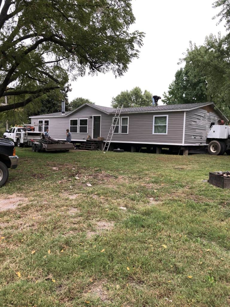 Moving a double wide mobile home