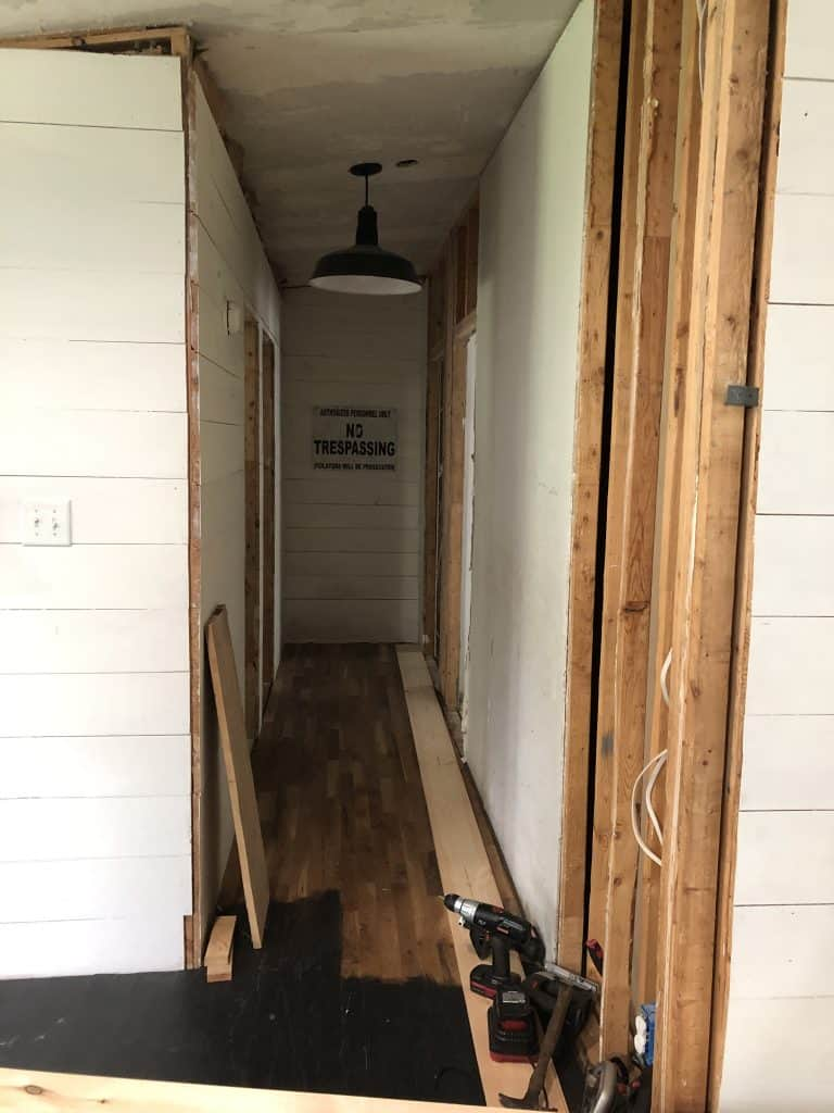 Double Wide Mobile Home Farmhouse Style with Hardwood Floors and Shiplap Walls