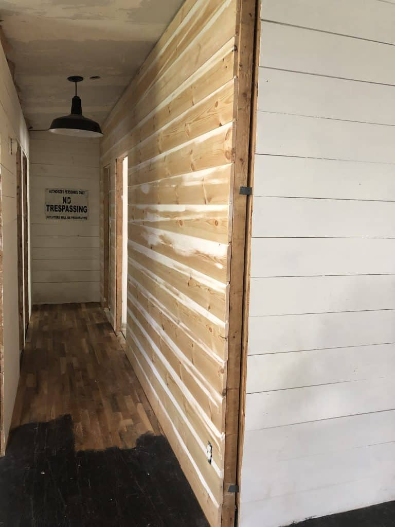 Mobile Home Walls with Shiplap