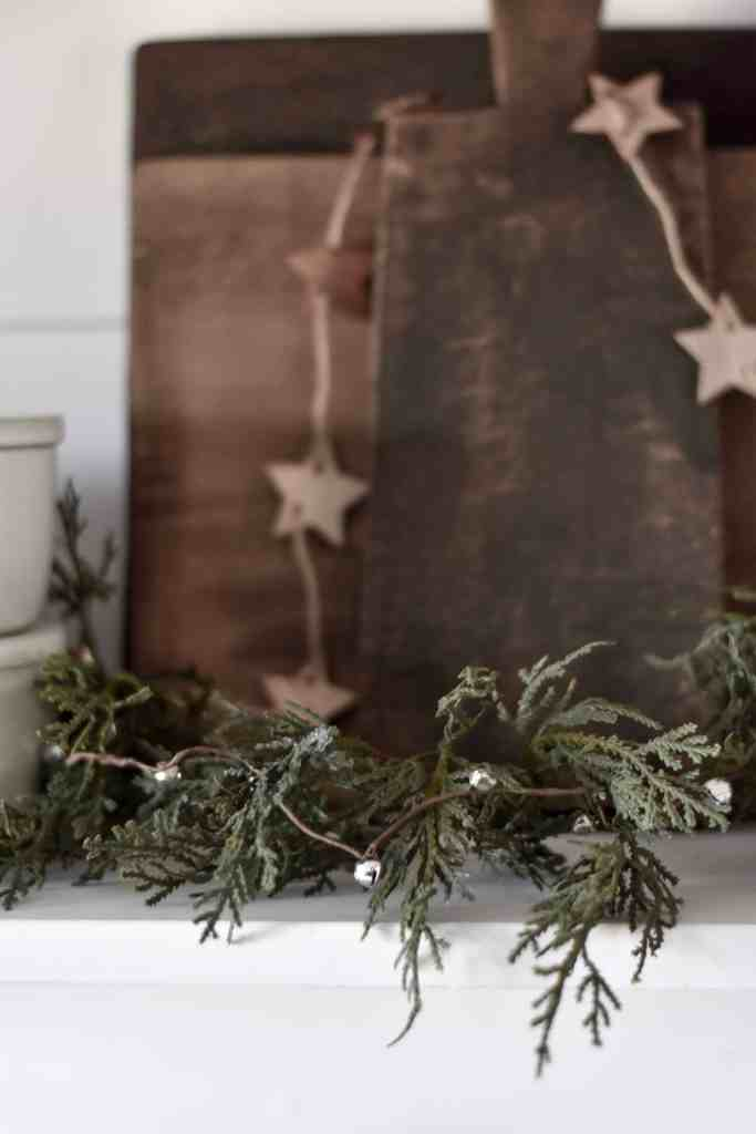 Faux Garland with Vintage Style Bell Garland