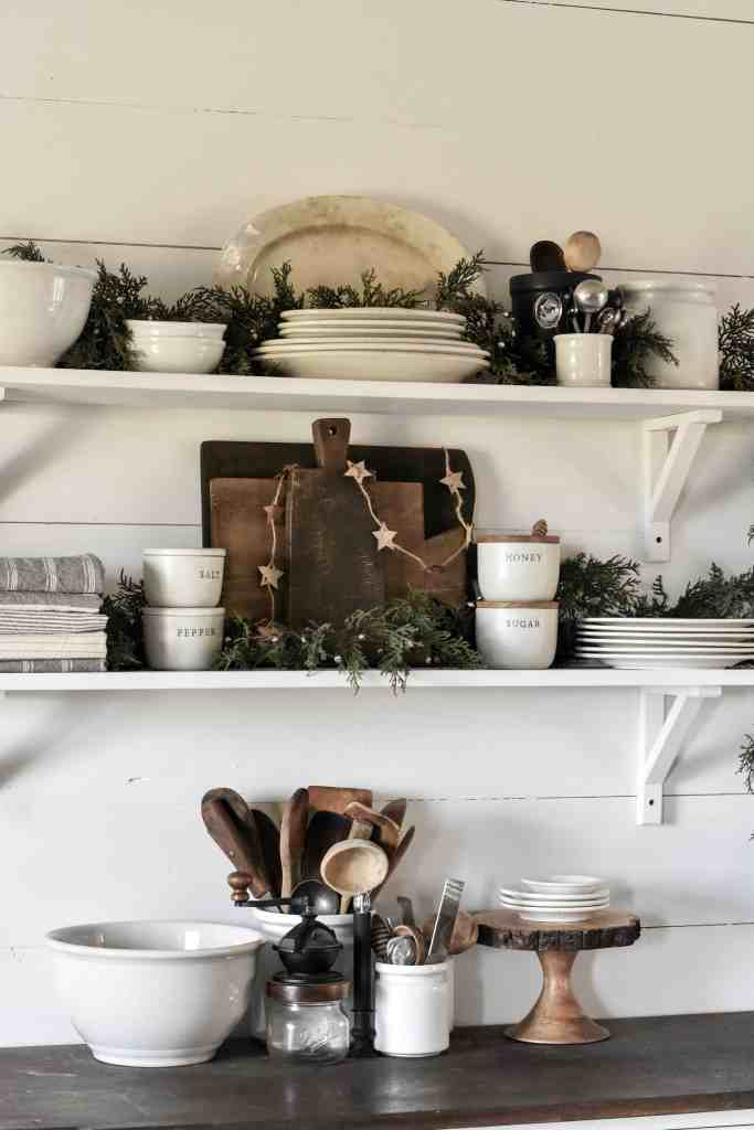 How to Decorate Kitchen Shelves for the Holidays
