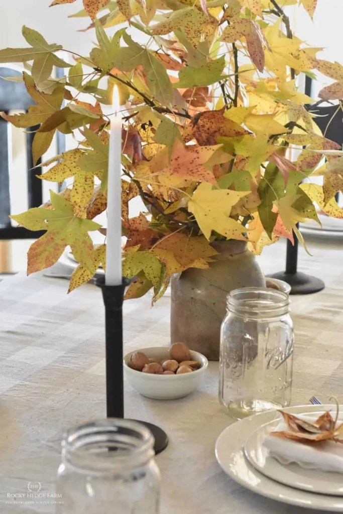 fall rustic table setting