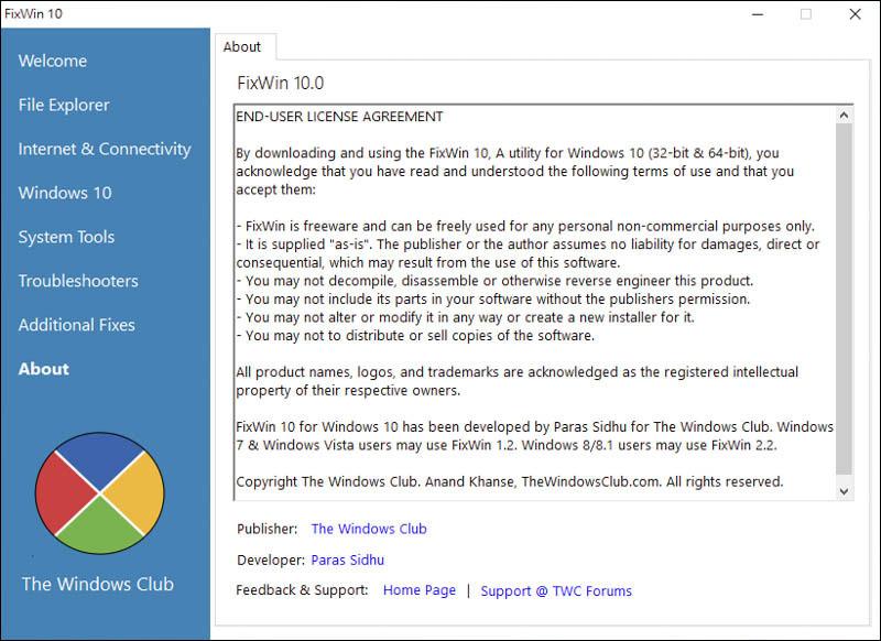 一鍵 解決 Windows 10 各項問題、疑難雜症|FixWin for Windows 10 7
