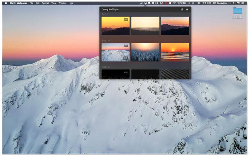Mac 免費桌布 Clarity Wallpaper 每日一張免費高品質圖片,並提供一鍵設置 8