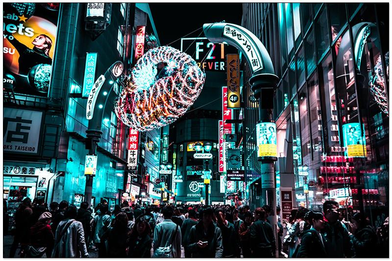 澀谷夜晚街道