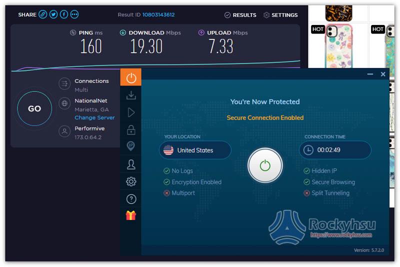Ivacy 美國伺服器速度實測