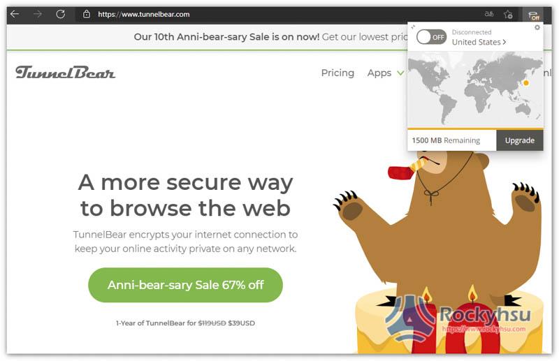 TunnelBear VPN Chrome
