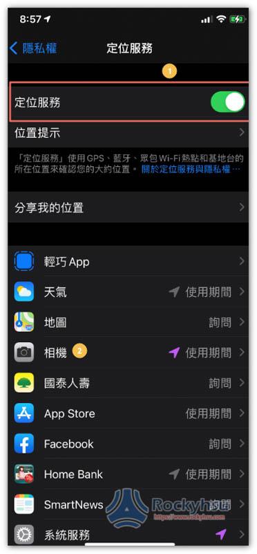 iPhone 定位功能