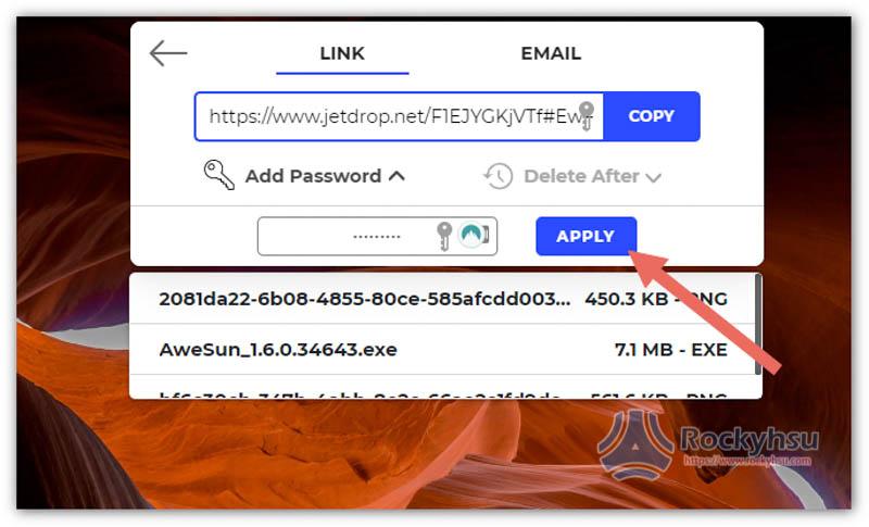 檔案分享加入下載密碼