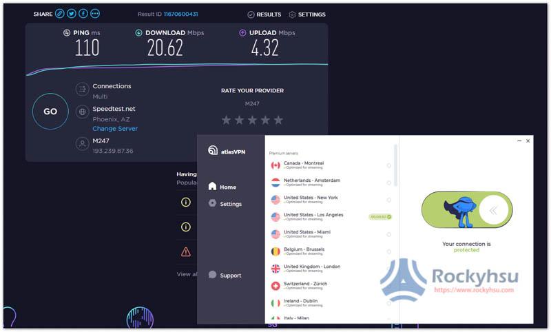 AtlasVPN 美國伺服器