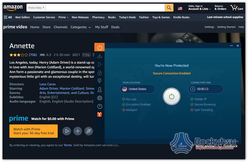 Ivacy 美國 Amazon Prime Video