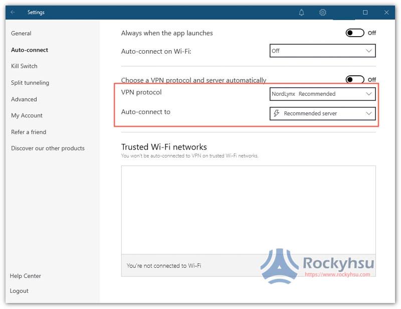 NordVPN Windows VPN 協議