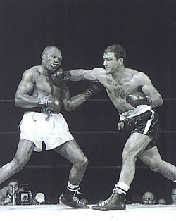 Rocky Marciano in the ring