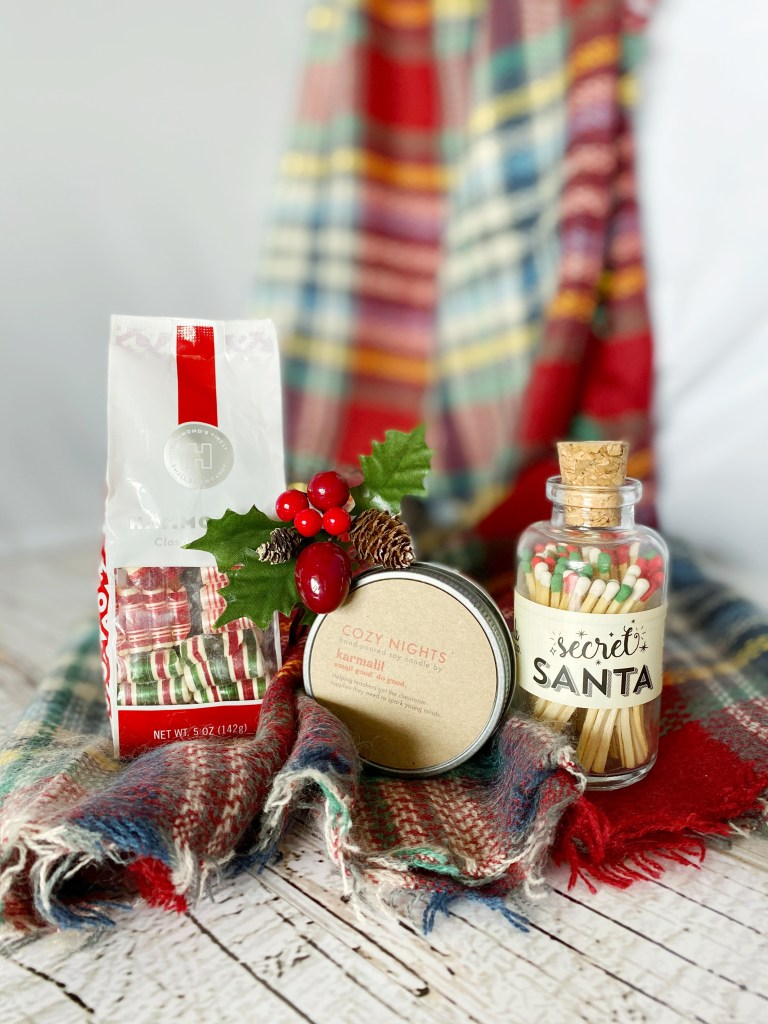 Cozy Gift Co. Secret Santa for Her Gift Box with Cozy Plaid Scarf