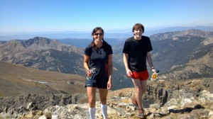Detour to the summit of Sawtooth Mountain on Marcy's insistence during our Pawnee-Buchanan loop in IPW.